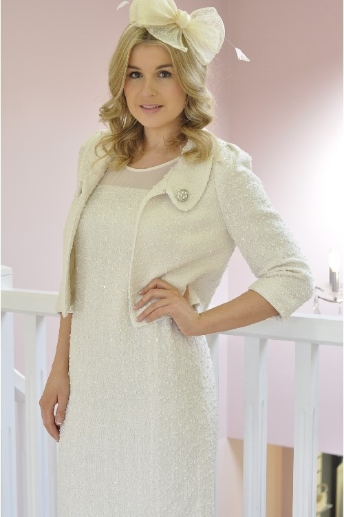 ba674711dc ... for a mother of the bride outfit and this Libra cream dress   short  jacket