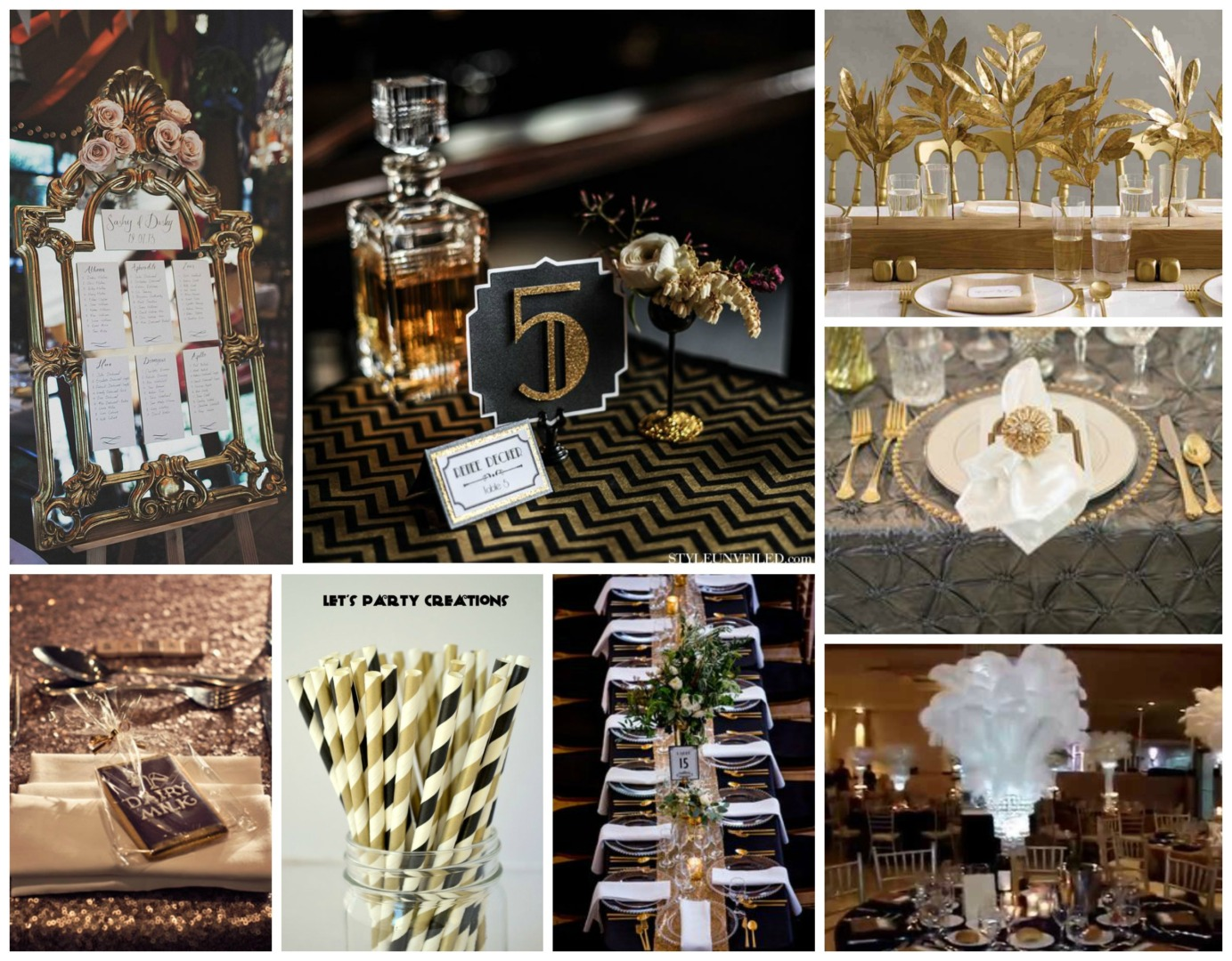 Great gatsby themed wedding for Great decor