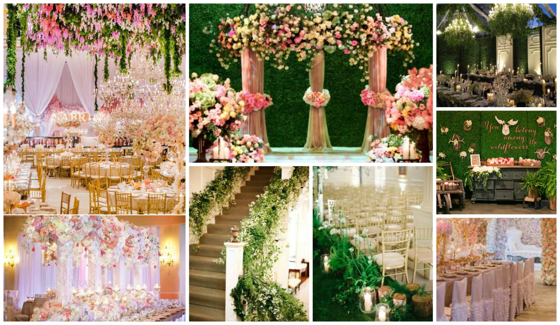 Wedding decor bring the outside in for Wedding party decorations