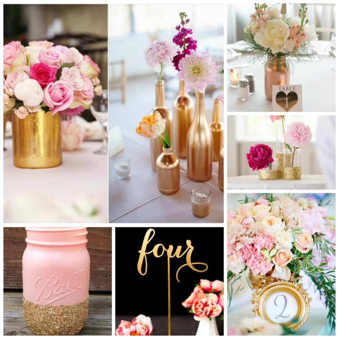 Rose Wedding Ideas: Pink And Gold Wedding Theme