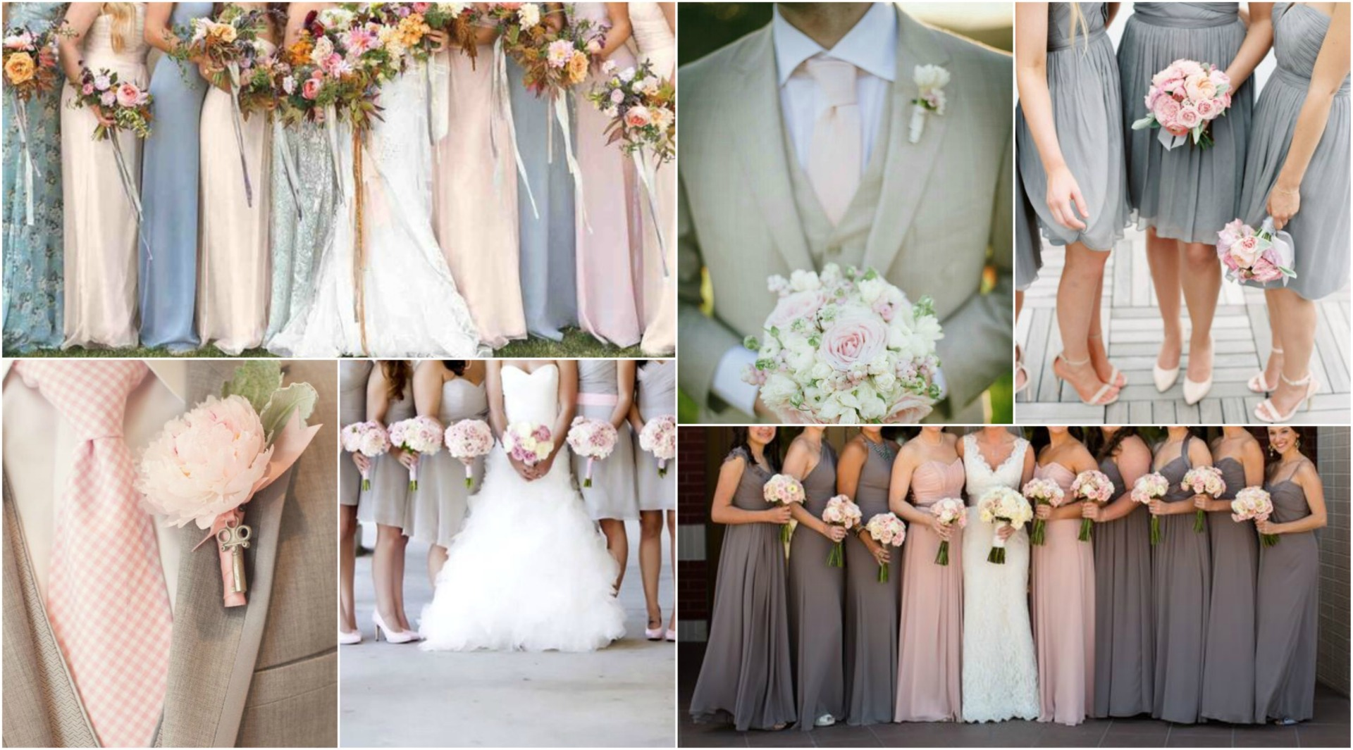 Also It S A Colour That Works Well For Bridesmaids Think Blush Pink Gowns With Grey Fls Or Vice Versa Try Alternating Colours In Your An